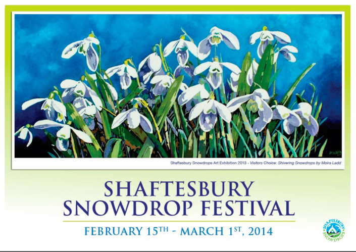 2014 Festival Poster Moira Ladd - Shaftesbury Snowdrops
