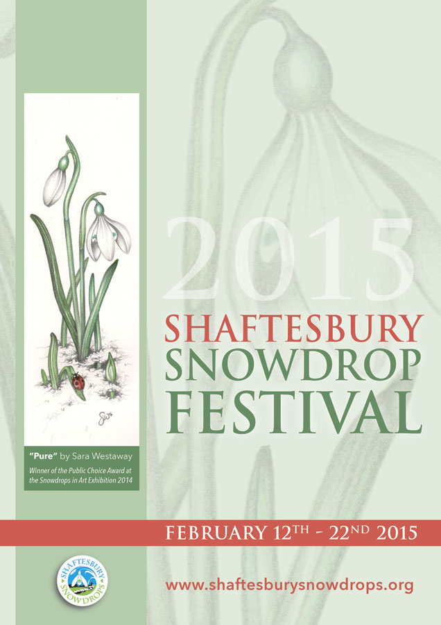 2015 Festival Poster S Westaway - Shaftesbury Snowdrops