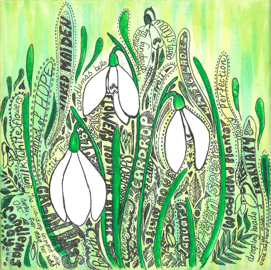 2018 Festival Poster - Shaftesbury Snowdrops