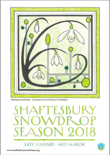 2018 Poster - Shaftesbury Snowdrops