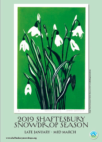 2019 Poster - Shaftesbury Snowdrops