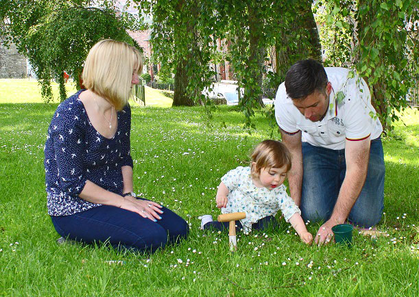 Another Fathers Day with Dad and Mum - Shaftesbury Snowdrops