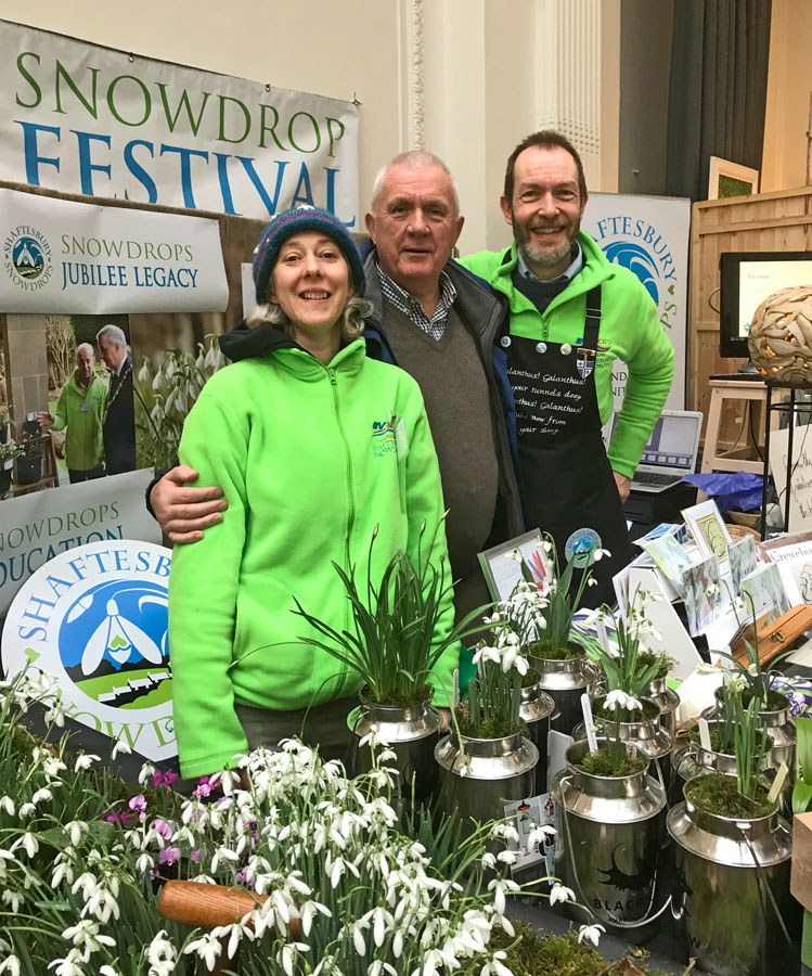 At the RHS Early Spring show in 2018 - Shaftesbury Snowdrops
