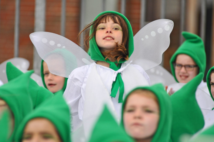 Brownies as Snowdrop Faries - Jumping Fairy - Shaftesbury Snowdrops