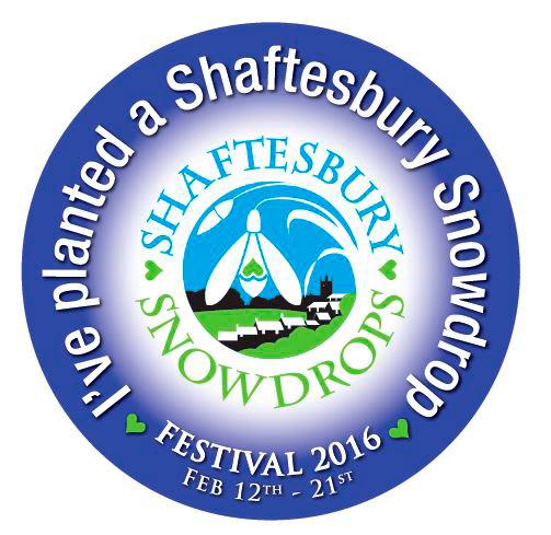 Festival Sticker 2016 - Shaftesbury Snowdrops