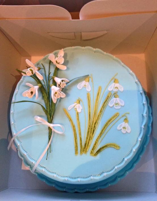 Snowdrop Cake - Shaftesbury Snowdrops