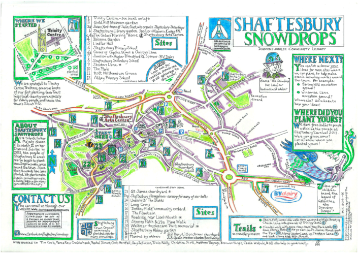 Shaftesbury Snowdrops map 2020