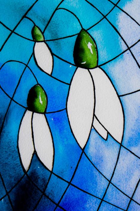 Shaftesbury Snowdrops Exibition 2021 - Jackie Brown - Trio
