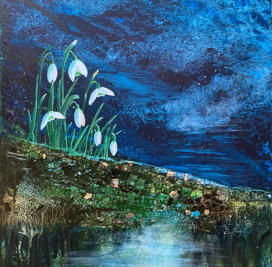 Shaftesbury Snowdrops Exibition 2021 - Caroline Thistlethwaite - Night lights