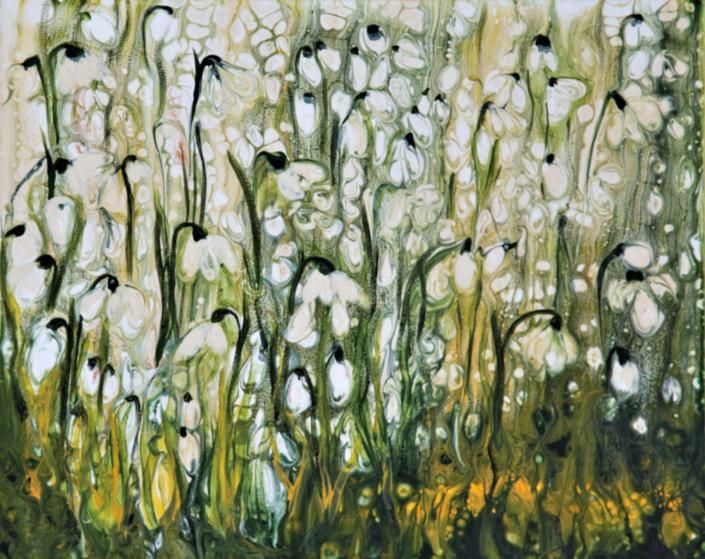 Shaftesbury Snowdrops Exibition 2021 - Fo Bugler - Yang-Snowdrops